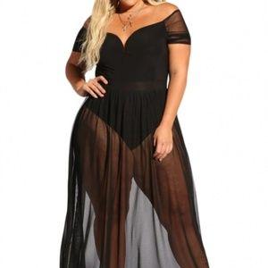 Dresses & Skirts - Sheer Allure Bodysuit Dress
